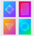 abstract colorful gradient backgrounds vector image
