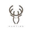 abstract design template of deer head vector image vector image