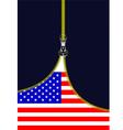 al 0722 zipper american flag vector image vector image
