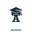 beginner icon line style icon design ui vector image