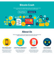 bitcoin crash website design vector image vector image