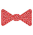 bow tie mosaic of dots vector image