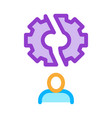 broken gear man icon outline vector image vector image