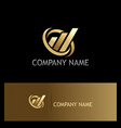 business finance abstract gold company logo vector image vector image