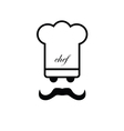 chef black and white vector image