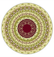 circles floral pattern indian style vector image vector image