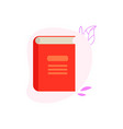 closed paper book or diary with red hardcover vector image vector image