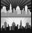 comic cityscape monochrome horizontal banners vector image vector image