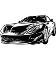 concept sportscar vehicle silhouette vector image vector image