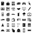 credit icons set simple style vector image vector image