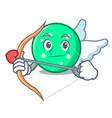 cupid circle character cartoon style vector image