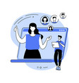 customer persona abstract concept vector image vector image