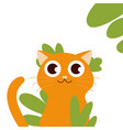 cute fat orange cat makes a funny face holiday vector image