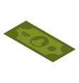 dollar icon isometric style vector image vector image
