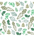 eco seamless hand drawn pattern Bio food organic vector image vector image