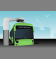 electric bus at a stop vector image vector image