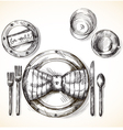 Festive table setting vector image