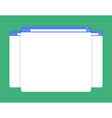 flat blank browser windows vector image vector image