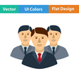 Flat design icon of Business team vector image vector image