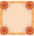 Floral vintage background invitation greeting card vector image