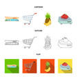 food and drink sign set of vector image