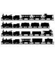 four vintage steam trains vector image vector image