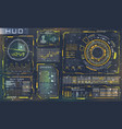 futuristic interface hud style and infographic vector image vector image