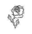 gardening rose icon hand drawn icon outline black vector image vector image