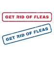 Get Rid Of Fleas Rubber Stamps vector image vector image
