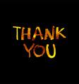 Golden inscription thank you vector image