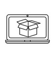 laptop computer with box vector image vector image