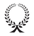 laurel wreath icon isolated vector image