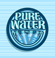 logo for pure water vector image