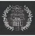 love message design vector image vector image