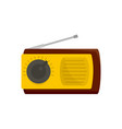 manual radio receiver icon flat style vector image vector image