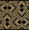 modern ornamental gold 3d greek seamless patern vector image vector image