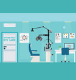 ophthalmologist interior office with phoropter vector image vector image