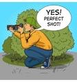 Paparazzi photographer pop art style vector image