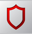paper art of the red shield vector image vector image