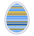 paper card template with multicolor striped easter vector image vector image