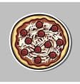 PizzaSticker vector image vector image