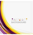 Purple and orange color lines on white vector image