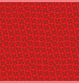 red pattern background vector image