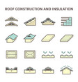 roof construction icon vector image vector image