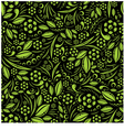 Seamless wallpaper green vegetation repeating vector | Price: 1 Credit (USD $1)