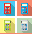 set calculator icons flat graphic style vector image