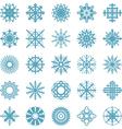 Set of winter snow flakes symbols vector image