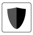 Shield icon gray and black 3 vector image vector image