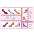 shoes card set vector image vector image