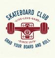 skateboard club badge vector image vector image